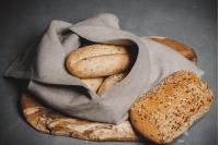 Worek na chleb lniany, duży 40x40x20cm